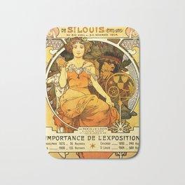 "Alphonse Mucha ""World's Fair, St. Louis, Missouri"", 1904 Bath Mat"