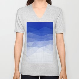 Imperial Lapis Lazuli - Triangles Minimalism Geometry Unisex V-Neck