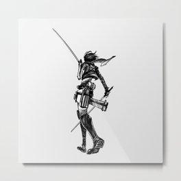 Mikasa BlackWhite Metal Print