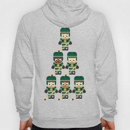 Super cute sports stars - Ice Hockey Green Hoody