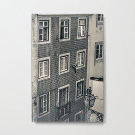 Alfama, Lisbon II (B&W) Metal Print