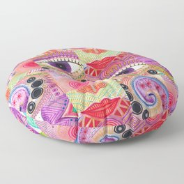 colorful words of a poem Floor Pillow