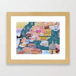 Joy - Positano, Italy Framed Art Print