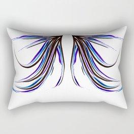 Black Blue Purple Brushing Rectangular Pillow