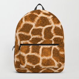 Apricot Giraffe Skin Backpack