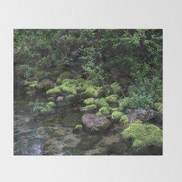 Mossy River Walk Throw Blanket
