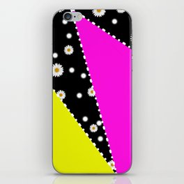 Retro Neon Dasiy Pattern iPhone Skin