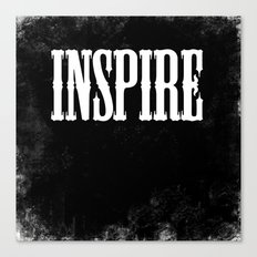 Inspire - a Chalkboard Message Canvas Print