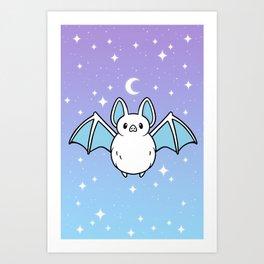 Cute Night Bat Art Print