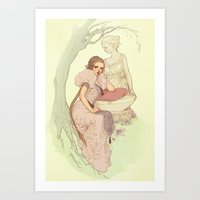 rapunzel Art Prints featuring Rapunzel by Jasmin Darnell