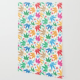 marijuana leaf color pattern Wallpaper