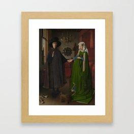 Van Eyck - Arnolfini Portrait Framed Art Print