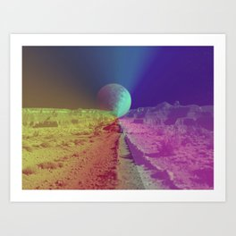 The Space Canyon Grand Art Print