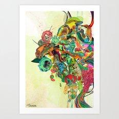 Retroscape Art Print