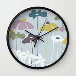 Maggiorie wild flowers Wall Clock