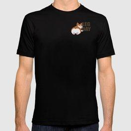 Cute Corgi Leg Day 1.0 T-shirt