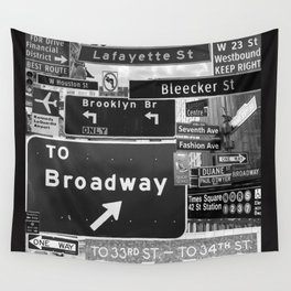 NYC streets signs Wall Tapestry