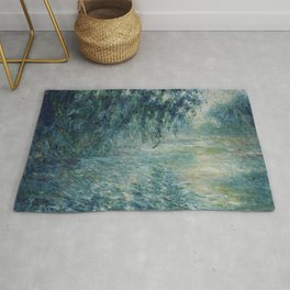 """Claude Monet """"Morning on the Seine"""" Rug"""