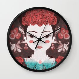 Mexican eyes II Wall Clock