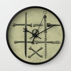 Noughts & Crossbones Wall Clock