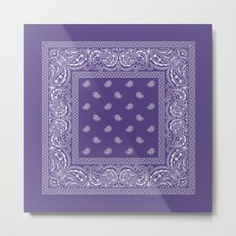 Bandana - Southwestern - Ultra Violet Metal Print