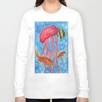 jelly fish Long Sleeve T-shirts featuring Jelly Fish by Julie M Studios