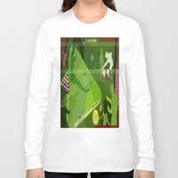pool Long Sleeve T-shirts featuring Pool by Robin Curtiss