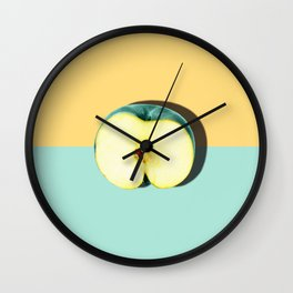 Tropical Fruit. Apple Half Slice Wall Clock