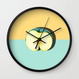 Tropical Fruit. Apple Half Slice Wall Clock