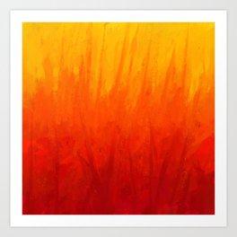 Fire and Liquid Sunshine Art Print