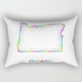 Rainbow Oregon map Rectangular Pillow