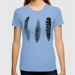 Feather Trio | Black and White T-shirt