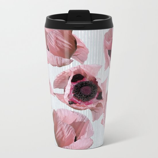 Perfection in a poppy Metal Travel Mug