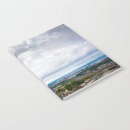 View of Edinburgh, Scotland from Edinburgh Castle Notebook