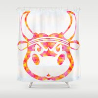 bull Shower Curtains featuring Bull by Gusvili