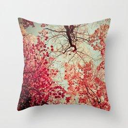 Autumn Inkblot Throw Pillow