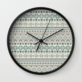 V40 Boho Vintage Anthropologie Pattern Wall Clock