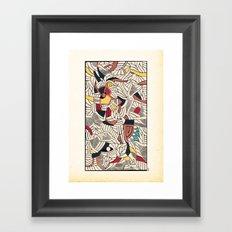 - council relfexno - Framed Art Print