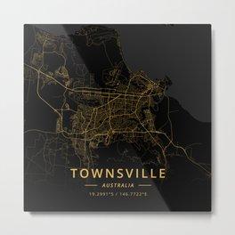 Townsville, Australia - Gold Metal Print