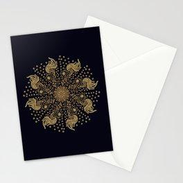 Golden Peacock Mandala Stationery Cards