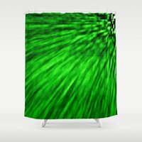 emerald Shower Curtains featuring Emerald by Simply Chic