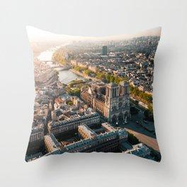 Notre Dame Rise Again Throw Pillow