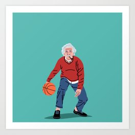 Albert Plays Basketball Art Print
