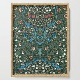 William Morris Blackthorn Wallpaper Block Print Pattern, 1892 Serving Tray