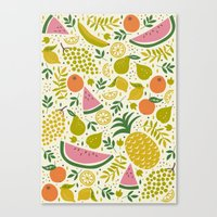 fruit Canvas Prints featuring Fruit Mix by Anna Deegan