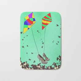Flying Kites in May with May - shoes stories Bath Mat