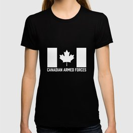 Canadian Armed Forces T-Shirt - Canada White Flag T-shirt