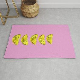 Lemon Slices Pink Rug