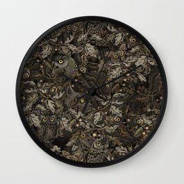 Fit In (autumn night colors) Wall Clock