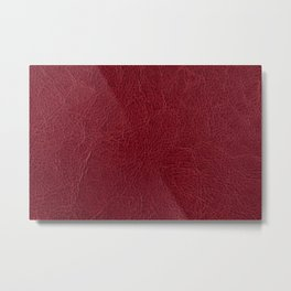 Dark red leather texture abstract Metal Print